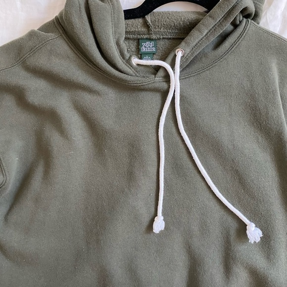 Wild Fable Target green cropped hoodie